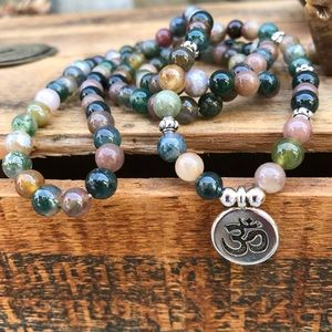 🆕🆕🆕✨INDIAN AGATE 108 STONE MALA NECKLACE 6mm✨
